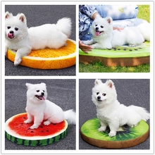 fruit dog bed plush pet food mat decorative cushions