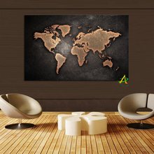 Factory Price Large Size Printed Modern Wall Art Painting Print On Canvas World Map Painting For Home Decoration