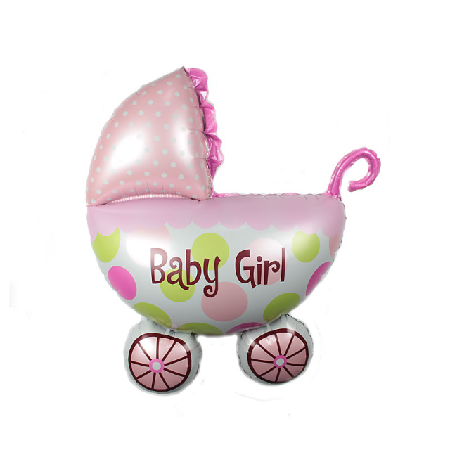 Wholesale hot selling mini air balloons baby carriage shower helium foil baby car balloons