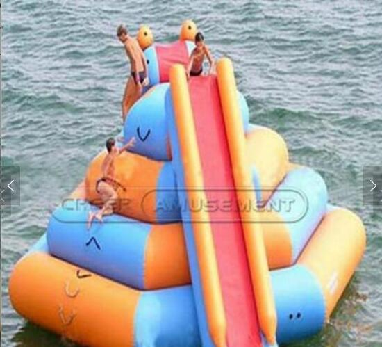 Cheer Amusement giant pool slide inflatable floating water sports equipment
