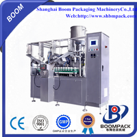 Competitive price automatic plastic cosmetic tube filling sealing machine with date printing