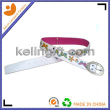 Superior Design Wide White Pu Belts With Crystal Buckle