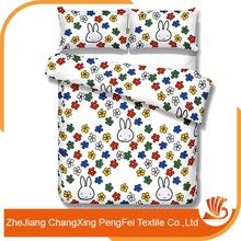 Cute cartoon print textile bed sheet fabric for children