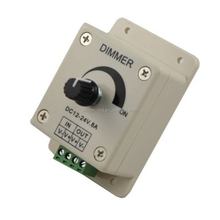 DC12-24V,Knob type LED dimmer to realize 0-100% brightness dimming,12V<96W,24V<192W,1 channel dimmer controller