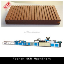 SKR machinery PVC plastic solid wood plate production machine line with groove