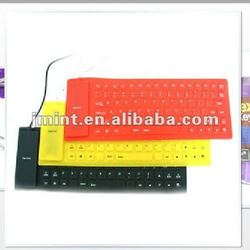 different coloured laptop silicon conductive keyboard