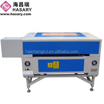 Widely used mini Co2 laser cutting machinery double color board cutter