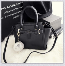 New Hot Sell Smile Tote Bag With Fur Ball (XJHB0225)