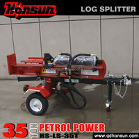 Hot selling 100L 3 position with auto-return control valve recoil garden tool 35 ton gas motor wood splitter