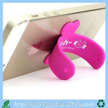 Universal Bracket Magic Sticker U Shape Design Silicone Phone Stand