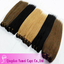 100% human hair extensions top quality hair weft hair extension