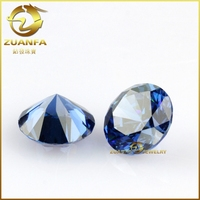 Wuzhou gems 5mm aaa cz stone cubic zirconia synthetic tanzanite loose stone