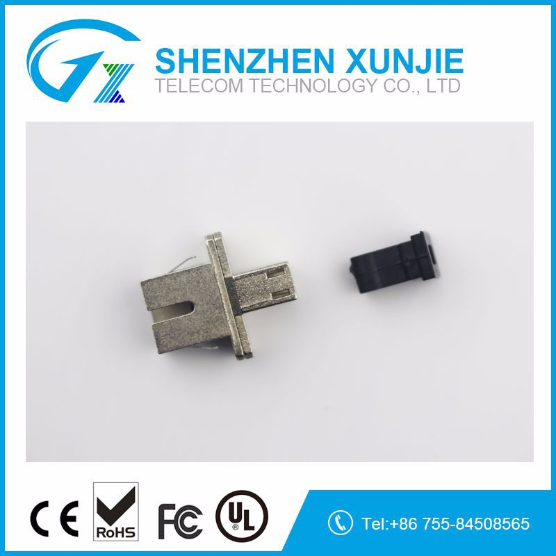 Hot sale fiber optic simplex SC-FC singlemode mating sleeves hybrid adapter metal Optic fiber adapter