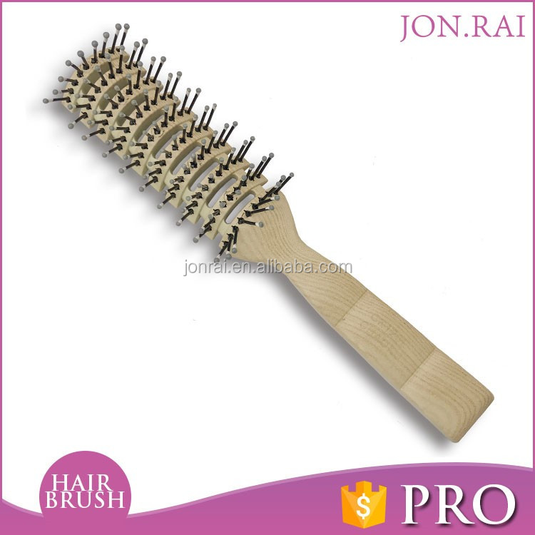 Professional Plastic Handle Material personalized hair brush combs massage brush nylon bristles