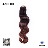 Wholesale 10 inch Brazilian Body Wave Hair Extension Mixed Colored Body Wave Synthetic Hair Weave