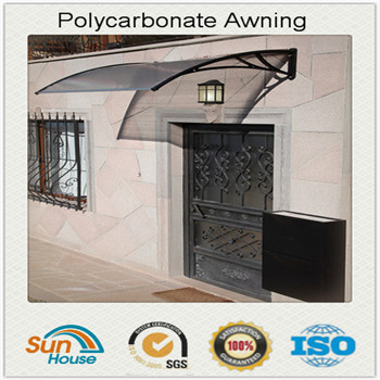 Polycarbonate canopy rain cover clear plastic for door window