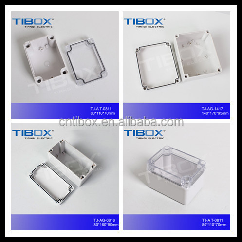 TIBOX New IP65 ABS plastic waterproof hinge enclosure