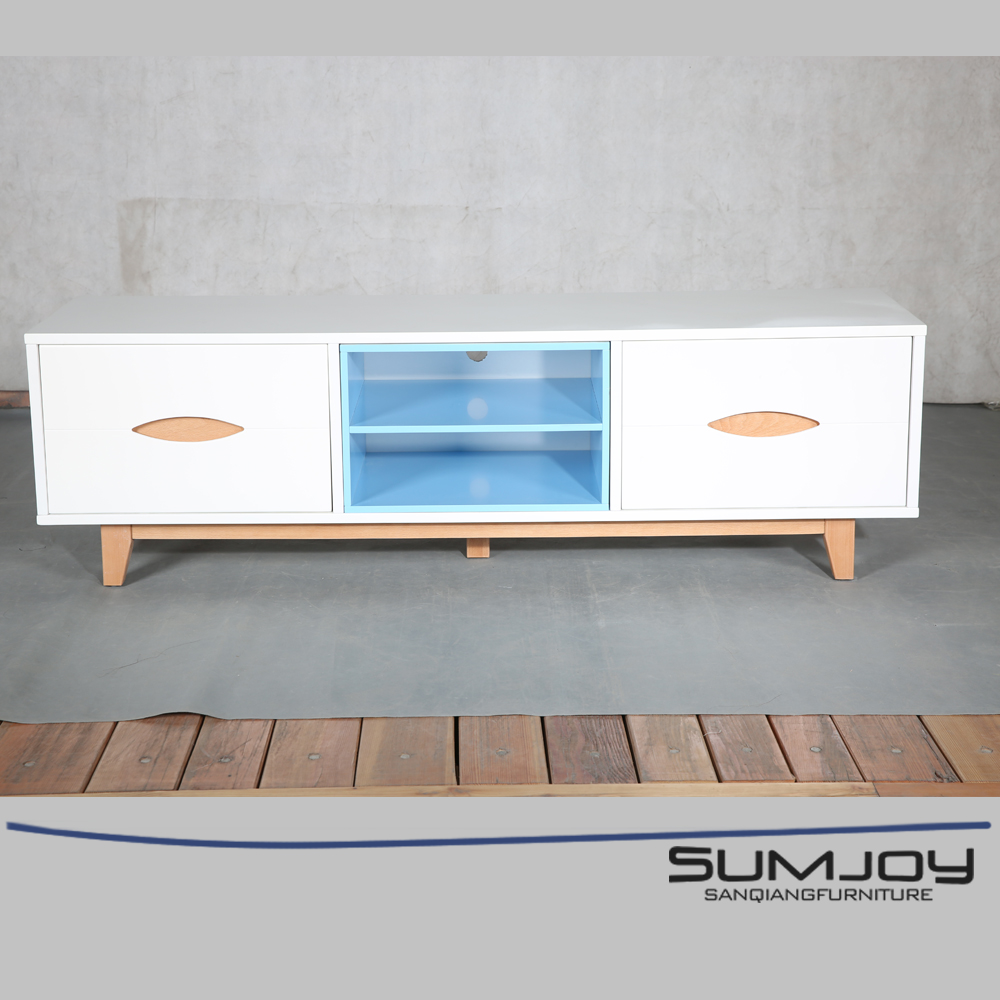 SUMJOY modern MDF and wood tv stand