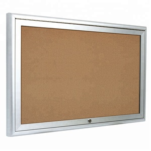 High Quality Acrylic Doors Enclosed Cork Memo Bulletin Board