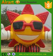 giant adverting event decoration inflatable sun man cartoon character balloon