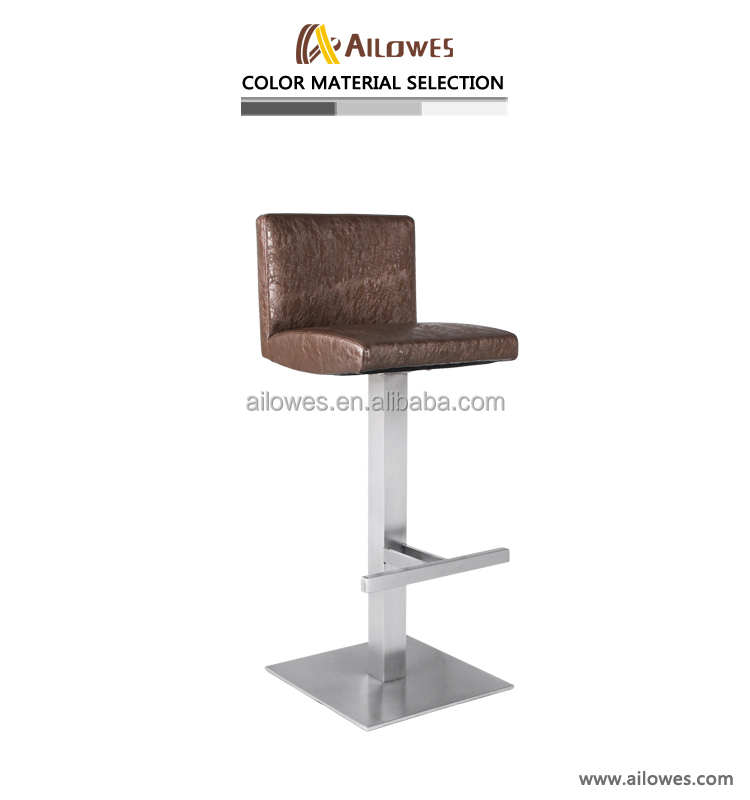 Leather bar stool footrest covers