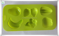 11 Cavities Fruits Banana Pineapple Apple Shape Chocolate Sugar Ice Cake Decorating Silicone Mini ice Cube Mold Tray