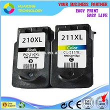 remanufactured ink cartridges compatible canon PG 210 CL 211 ink cartridge for canon pixma ip2700