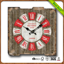 Fashon style home decor wholesale wall clocks funny designs cheap custom antique wooden clock