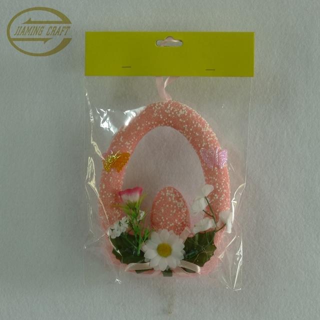 Easter foam egg wreath hanger