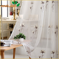 Flower design chain embroidery curtains and drapes
