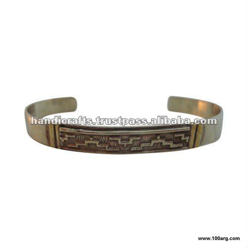 NICKEL SILVER BRACELET WITH 'PAMPA' DESIGN