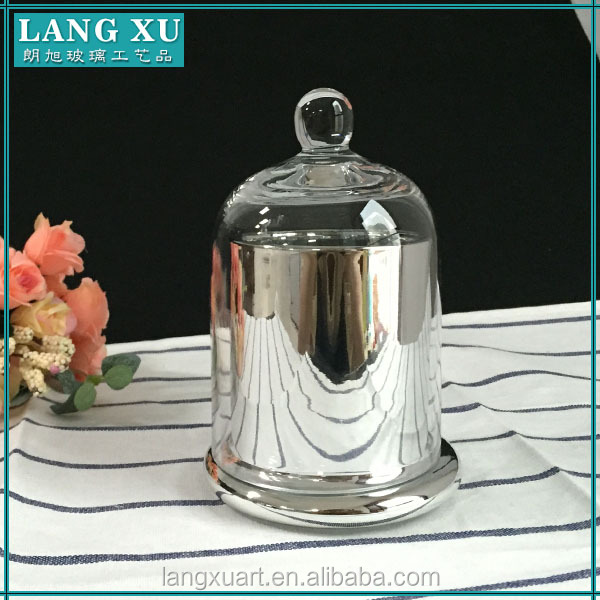 home decoration clear candle glass bell jar with dome cover wholesale