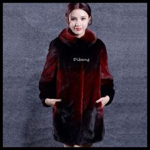 2018 hotsale mink fur Middle-long style Marten fur women's soft mink fur coat DB96