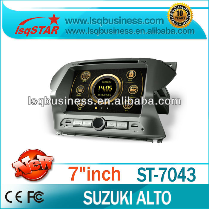 high quality car gps navigation for suzuki alto manufacturer with 3G/dvd/bluetooth/TV/ipod hot!drive your life!