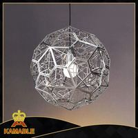 Round metal ball hanging pendant light for lobby