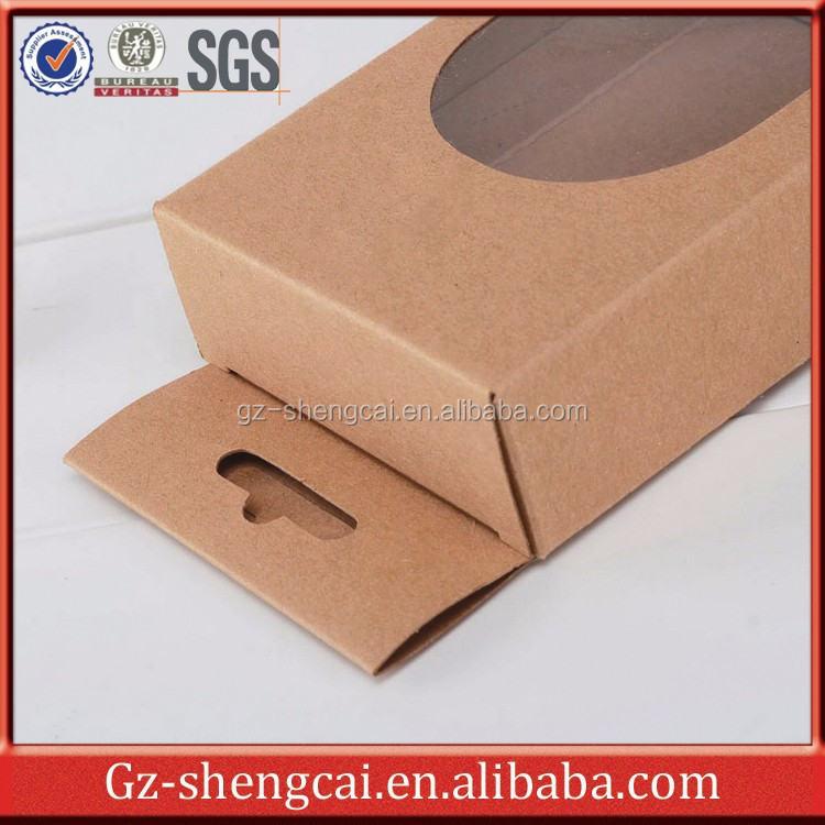 Alibaba Supplier Custom Printed Recycled Brown Kraft Paper Packaging Box