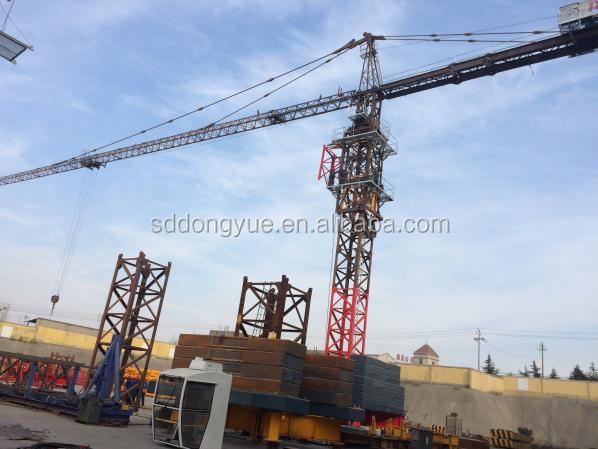 10t second hand used self erecting construction fixed jib tower crane for sale in indonesia