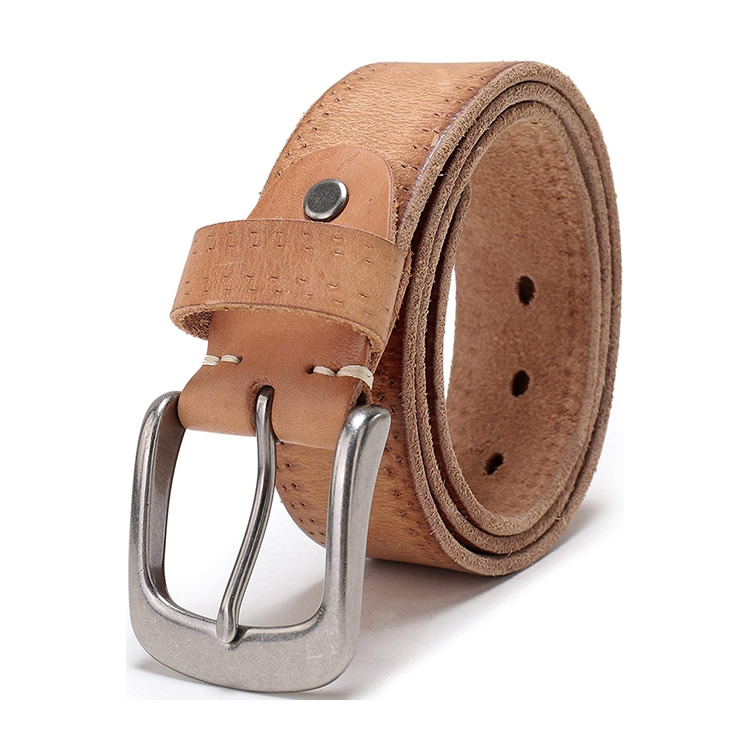 Custom 38MM Wide Light Brown Mens Italian Full Grain Genuine Leather <strong>Belts</strong> For Jeans
