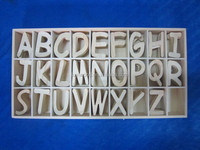 best seller popular design wooden art and crafts customized wooden letter English alphabet