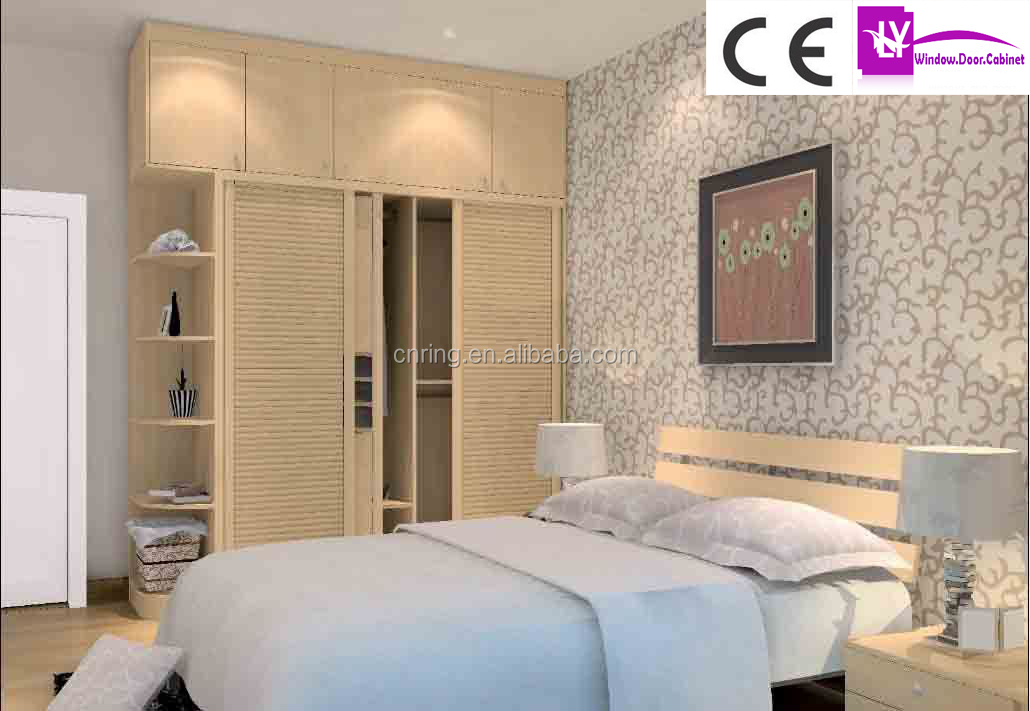 Indian wardrobe designs with dressing table for Bedroom cabinet designs india