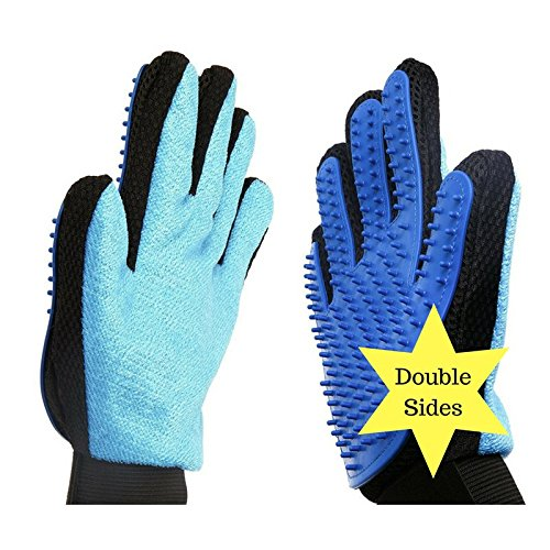 <strong>Pet</strong> grooming brush deshedding glove set of 2 sides