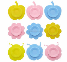 hildren Tableware Non-slip Bowl Suction Pads Baby Plate Kids Bowl Magic Silicone Sucker