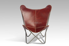 Modern Leather Folding Butterfly Lounge Chair Relaxing Chair For Living Room