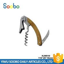 Best seller upscale wood handle durable portable corkscrew wine opener