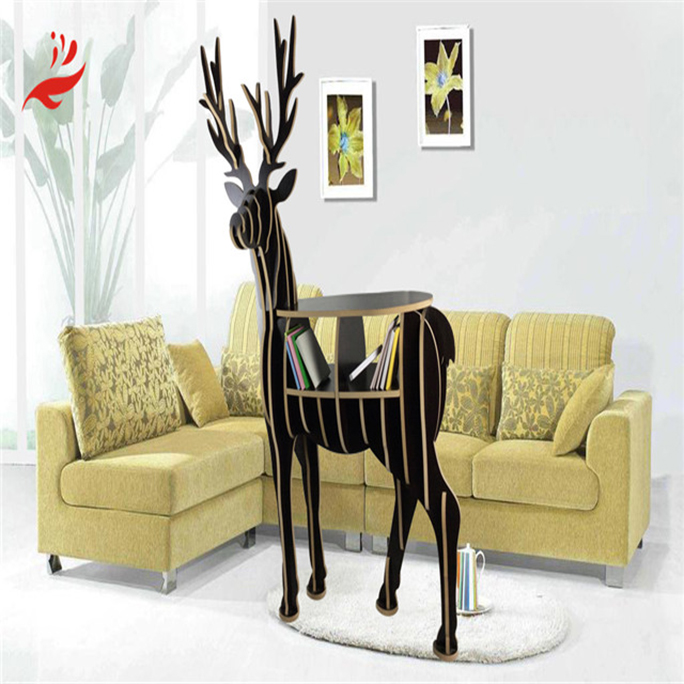 Best design creative animal shaped wooden bookshelf