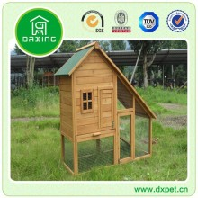 Professional made easy clean large wooden double rabbit cage