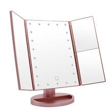 Amazon Best Sellers USB Charging 180 degree Adjustable touching screen 22 LED cosmetics makeup mirror with lights