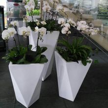 Large round bowl fiberglass flower pots wholesale