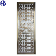 High quality laser cut metal room screen dividing panels for restaurants