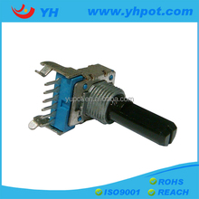 jiangsu 12mm 6 pin volume control 10k linear rotary potentiometer with wash and nut